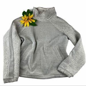 PrAna Lockwood Pullover Sweater Fleece Mock-neck